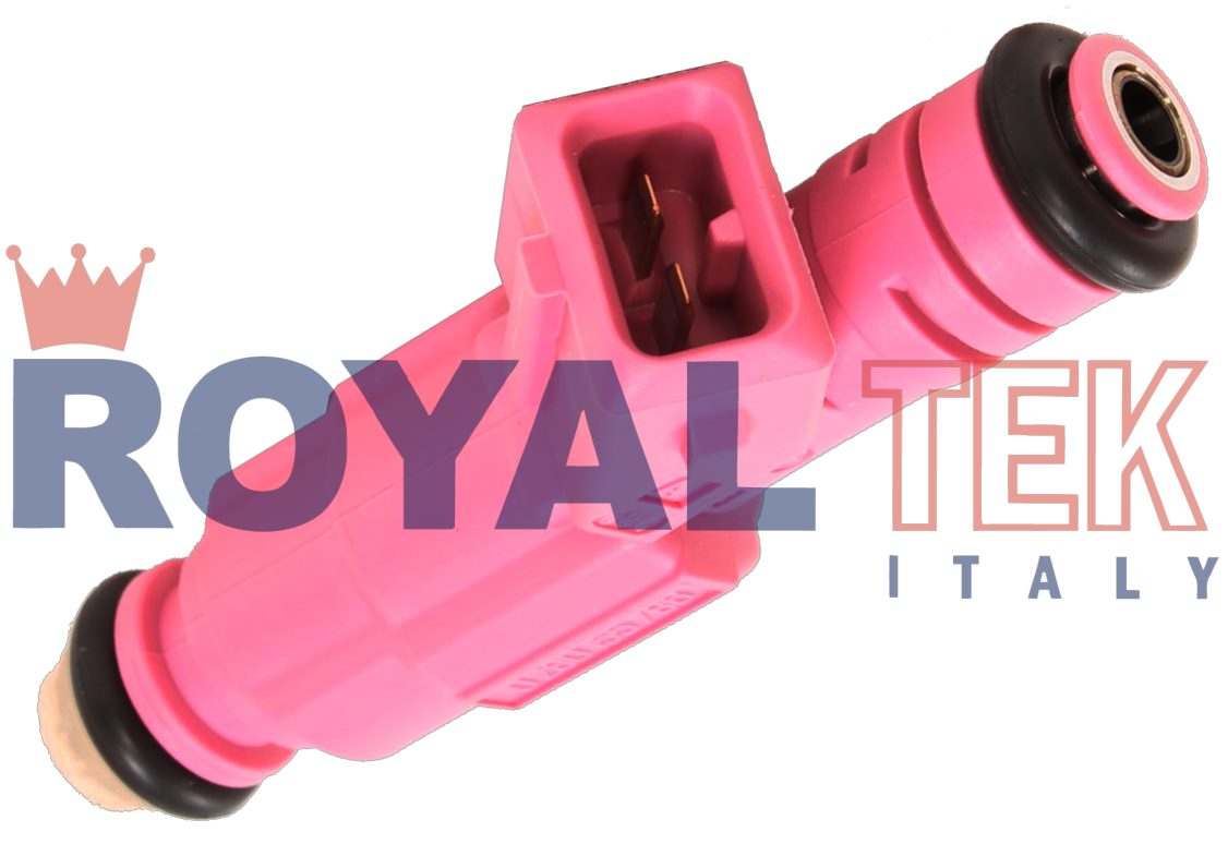 INYECTOR ROYALTEK TIPO BOSCH FORD FIESTA - KA 1.3 1994-1999 / PEUGEOT 306 1.4 1996-1998 - COLOR ROSA --- BOSCH 0280155786 - FORD 98BF9F593BB - REEMPLAZA IW155