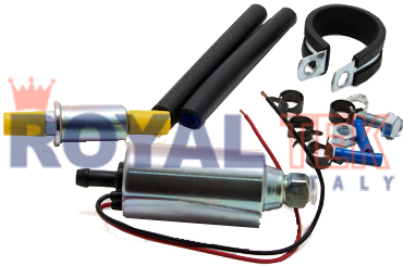 BOMBA CARBURADOR ROYALTEK UNIVERSAL A TURBINA - 12V 100L/H - 0.2 BAR --- AIRTEX 8012S 8016S - PIERBURG 721388510 - 721093120